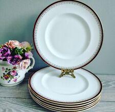 "6 Elegant Vintage 10.5"" Dinner Plates Berkeley Queen Anne"