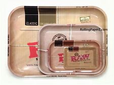 Mini +Medium +Large +XXL -GET ALL FOUR - RAW Rolling Papers brand Metal Trays