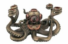 Steampunk Octopus Candelabrum Statue Sculpture Figure  **Home Decor**