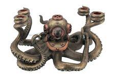 Steampunk Octopus Candelabrum Statue Sculpture Figure  - New in Box