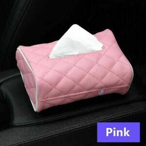 Home Car Tissue Box Cover Napkin Paper Holder Case Box PU Leather Storage Tool
