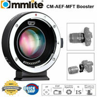 Commlite AEF-MFT Booster Lens Mount Adapter 0.71X for Canon EF to M4/3 Cameras