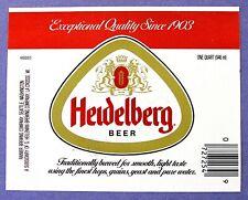 New listing Rainier Brewing Co Heidelberg Beer label Wa 32oz Hg003