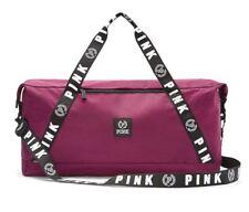 NEW PINK School secret MAROON Burgundy Weekender Travel Sports Gym Bag Duffle