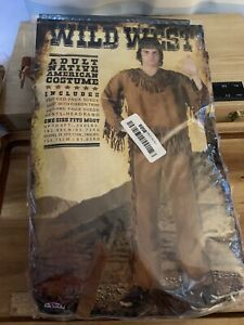 Fun World Mens Native American Adult Halloween Costume One Mans Size
