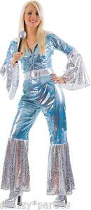 Ladies WATERLOO Fancy Dress Dancing Queen 1970s Fancy Dress Costume UK Size 6-24