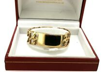 9ct Yellow Gold Childs Double ID Bracelet  17g