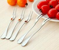 1PC Stainless Steel Globularness Fork Dessert Fork Fruit Fork Small Tableware