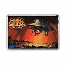 RETRO - BOX ARTWORK- THE INVADERS -UFO FLYING SAUCER- JUMBO FRIDGE MAGNET