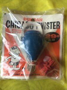 BLUE 1960 Duncan Spinning Top Chicago Twister Toy USA Vintage Original Pkg New