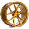 "20"" ROHANA RFX5 GLOSS GOLD CONCAVE WHEELS FOR PORSCHE 991 C4S TURBO TARGA 4S"