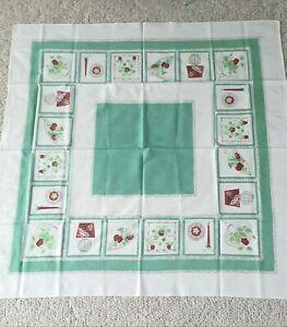 2 Vintage kitchen tablecloths