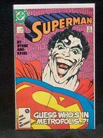 Dc Comics Superman #9 - Joker In Metropolis Comic Book VF/NM