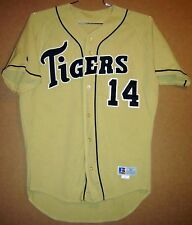 MISSOURI TIGERS #14 GOLD MESH BUTTON-DOWN COLLEGE BASEBALL JERSEY