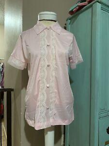 Vintage 60/'s Henson Kickernick Teal Aqua with Pink and White Geo Print Robe