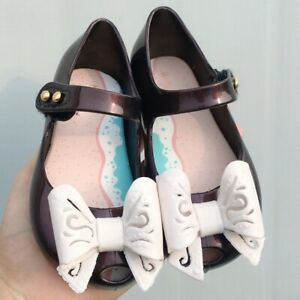 Mini Melissa Hollow Bow Sandals Toddler Child Kids Girl Jelly Shoes US Size 6-11