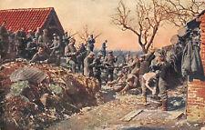 Waffenreinigung Truppen 1.Res. Pion. Batl. 12 Farb Feldpostkarte 1917