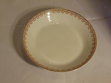 Haviland Limoges Soup Bowl with Gold Leaves and Gold Bead Swag