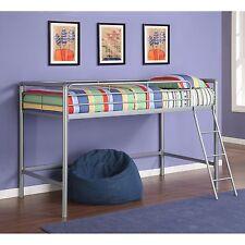 Loft Beds For Kids Teens Student Junior Low Bunk Bed Metal Twin Ladder Guardrail