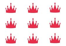 Triangle Princess Crown wall stickers - Choose your colour. 75mm . Set of 21