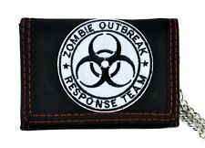 Zombie Outbreak Response Team Tri-fold Wallet with Chain Walking Dead Gothic