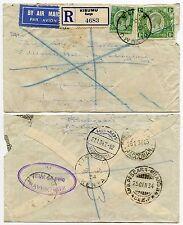Kenya Kut per la Danimarca attraverso l'Italia posta aerea registrata 1934