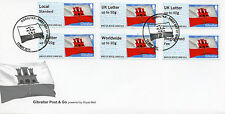 Gibraltar 2015 FDC Post & Go Flag 6v Set Cover B5GI15 B002