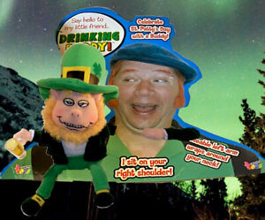 St. Patrick's Day Leprechaun Drinking Buddy Talking  Plush