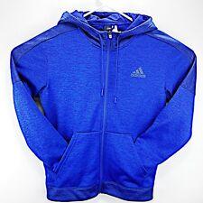 Men's ADIDAS CLIMAWARM Team Issue Fleece Full Zip Hoodie Size Medium Rn# 88387