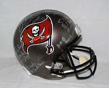 Warren Sapp Autographed Tampa Bay Buccaneers Silver F/S Helmet W/ Stats- JSA W A