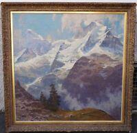 Erich Mercker (1891 - 1973) - Blick auf Jungfrauenmassiv Berner Oberland Schweiz