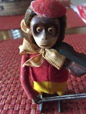 Vintage Schuco Monkey W/Violin Germany Wind Up Toy