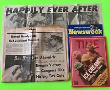 Royal Wedding 1981 Charles Princess Diana Newspaper Magazine Lot Newsweek Time