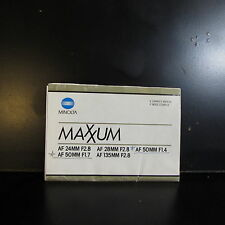 Used Mminolta Maxxum Lens 28mm f2.8 50mm f1.4 AF Guide Owners Manual O401343