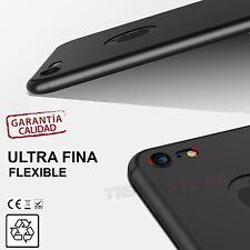 "Funda carcasa compatible IPHONE 7 4,7"" ultrafina y flexible con agujero manzana"