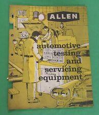Vintage Allen Automotive Testing and Servicing Equipment Booklet  (1960)