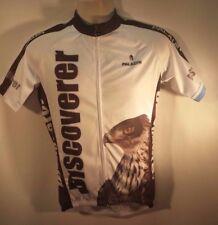 Paladin Cycling Jersey for Men Short Sleeve Eagle Pattern White Bike Shirt Nwt
