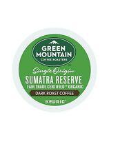 144 K-cups Green Mountain Single Origin Sumatra Reserve, Dark Roast