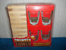DRUNKEN TOWER - JENGA STYLE DRINKING / PARTY GAME - NEW & UNUSED