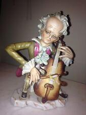 Vintage Figurine Man Playing Instrument, CELLO Player Lipper & Mann Cellist