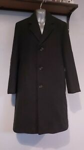 Dunn & Co Men's 100% Pure Wool Crombie Dark Grey Overcoat - L - Made in Britain