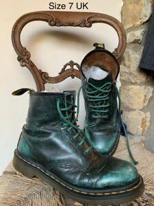 Vintage Green Dr Martens Leather Boots - Size 7 Docs Doctor