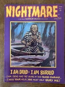 NIGHTMARE #12 April 1973 VF- SKYWALD Horror-Mood Magazine Swamp Issue Comic Art