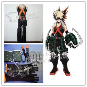 My Hero Boku No Hero Academia Cosplay Costume+Props Katsuki Bakugo Uniform Outfi