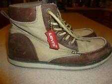 Vintage Levis Canvas & Leather Boots Shoes Mens sz 9.5D
