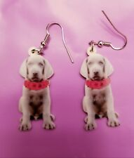 Weimaraner Dog lightweight fun earrings jewelry Free Shipping! Valentine's day