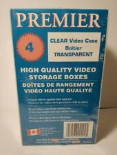 Set of 4 CLEAR VIDEO VHS CASE STORAGE BOXES - Premier Brand - New