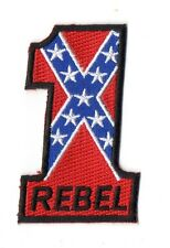 PATCH USA : N° 1  NUMERO UN  NUMBER ONE  REBEL SUDISTE  BIKER TRIKER TRUCKER