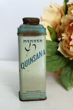 Vintage 1940s Quinsana Foot Powder Tin With Talc by Mennen / Collectible Adverti