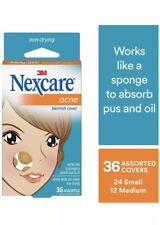 2 Pack - Nexcare Acne Absorbing Cover - Gentle - Day or Night - 36 Count Each